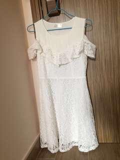 YOCO one piece white dress
