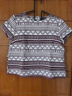 TRIBAL CROP TOP - brown