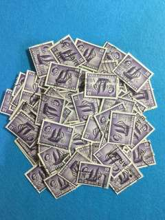 100pcs 1955 Singapore QE2 10cents Value Used Duplicates