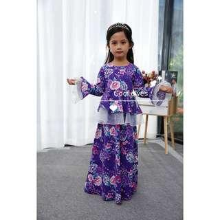 Peplum jubah dress