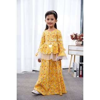 Peplum Kids jubah dress