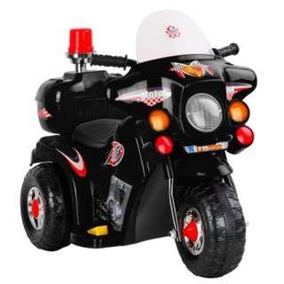 Kid's Ride on Patrol Motorbike - Black
