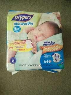 Drypers 3 packs New Born NB Wee Wee Dry (self pickup KT)