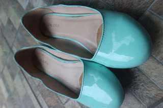Flatshoes Zalora hijau toska
