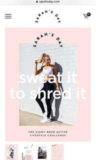 Sarah's Day- fitness program