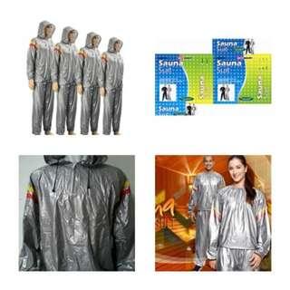 baju jaket celana pelengkap olahraga treadmill sauna suit