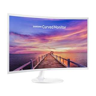 """Samsung 32"""" Essential White Curved Monitor CF391 with the deeply immersive viewing experience C32F391FWE C32F391F C32F391"""