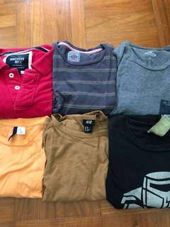 T-Shirts (Assorted) from H&M/Springfield/hollister