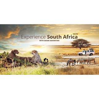 EXPERIENCE SOUTH AFRICA WITH SAFARI ADVENTURE (10D7N) 🐅🦓🦒🦍🦏