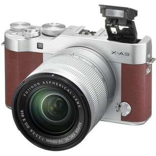 Fujifilm XA3 Kit XC16-50mm f3.5-5.6 OIS II (Brown) + Instax Mini 8  Fujifilm
