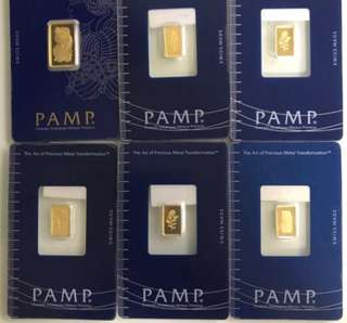 < Pure Gold 999 - PAMP Gold Bars >  + < Zodiac Gold Coins - 999 Gold Series >
