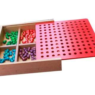 Froebel Gifts J2- Pegs And Lacing Box