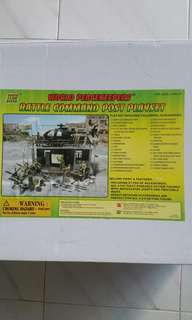 Used Loose (90% complete) Power Team Elite World Peacekeepers Battle Command Post Playset 1/18