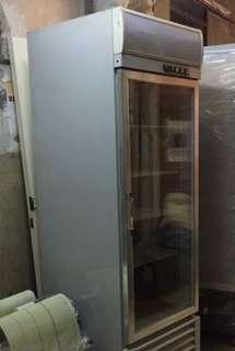 Air-cooled single glass swing door display refrigerator