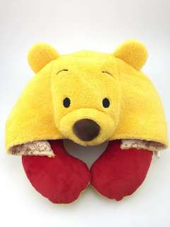 Brand New Disney Winnie the Pooh Hoodie neck cushion from Japan with tag