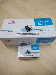 12 boxes Black Metal Binder Clips 32mm