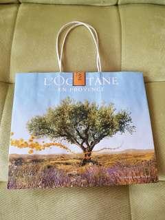 Paper bag loccitaine