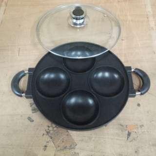 Cetakan Kue 4 Lubang Teflon Baking Pan Kue Serabi Dan Martabak Mini