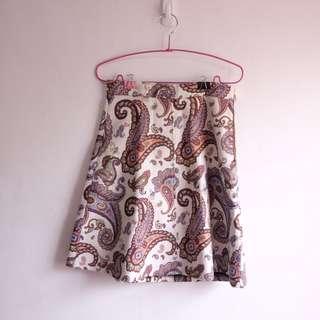 Zara Embroidered Paisley Skirt