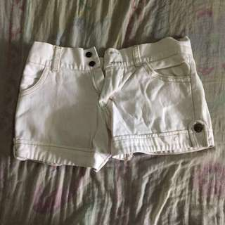 [PRE-LOVED] WHITE MAONG SHORTS