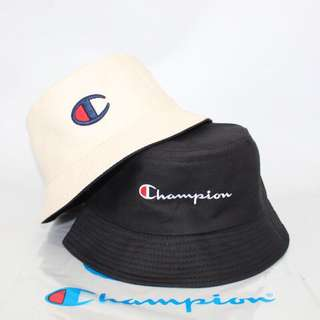 CHAMPION EMBROIDERED REVERSIBLE BUCKET HAT