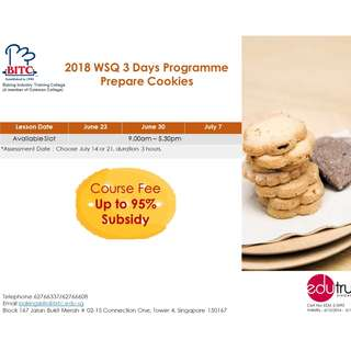 WSQ 3 days prepare cookies offered by BITC