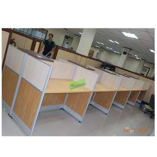 WORKSTATIONS CUBICLE (LAMINATES 3.2cm thick alum profile)