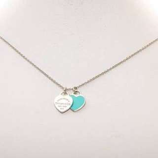 REDUCED*TIFFANY™ MINI DOUBLE HEART TAG PENDANT