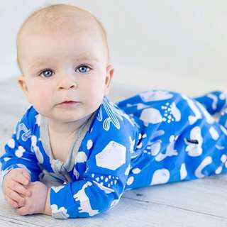🌟INSTOCK🌟 Blue Weather Cactus Zipper PJ Pajama Sleeping Romper Pants for Newborn Baby Toddler Boy and Girl Children Kids Clothing
