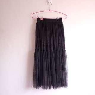 Hong Kong Tulle & Velvet Skirt