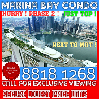 Already TOP ! RARE Marina Bay Condo Beside MRT For SALE ! HURRY !