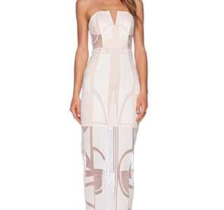 Shona joy white lace dress size 6