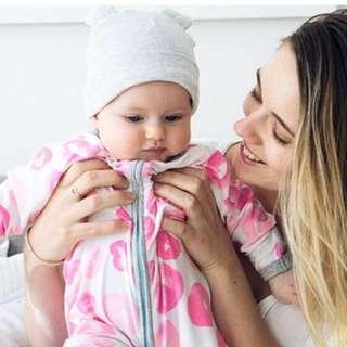 🌟INSTOCK🌟 Pink Donut Print Zipper PJ Pajama Romper Pants Newborn Baby Toddler Girl Children Kids Clothing