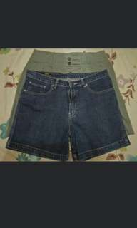 Bundle: shorts and miniskirt size 34