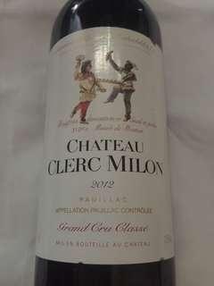 Chateau Clerc Milon 2012