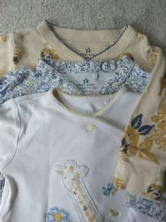 NEXT Baby sleepsuit pack of 3. Size 3-6M