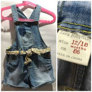 Zara Baby Denim Jumpsuit
