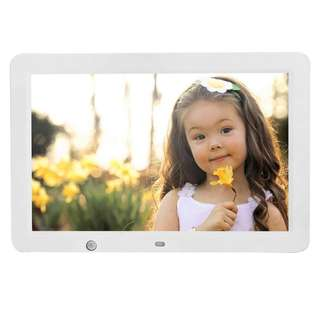 137. YKS Digital Picture Frame 12 inch with Motion Sensor & 8GB U Disk Memory HD 1280x800 Frame Wide Screen View Pictures Listen to Music MP3 Video MP4 (White)