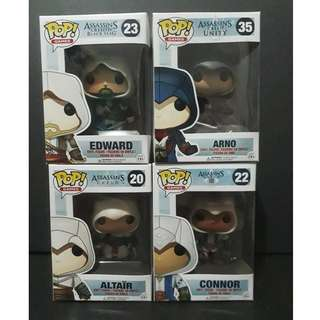 Funko Pop Assassin's Creed - Set of 4