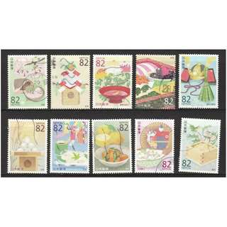 JAPAN 2016 TRADITIONAL DIETARY CULTURE (CUISINE) OF JAPAN SERIES NO. 2 COMP. SET OF 10 STAMPS IN FINE USED CONDITION