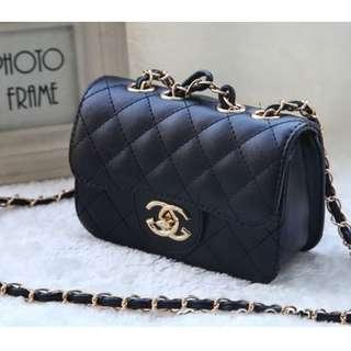 Fashion Adorable Chain Sling Bag for Kids Girls Black