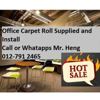 Penanti Office Carpet Roll with Install Mr.Heng 012-791 2465 Penang Carpet