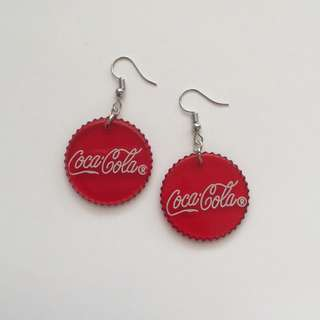 COCA COLA LOGO EARRINGS