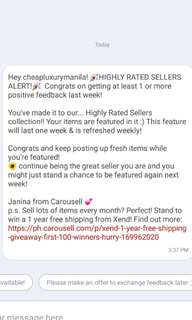 Highly rated seller again!!!