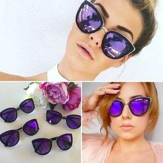 Quay Australia - My Girl Sunglasses - Purple/Black - Free Shipping