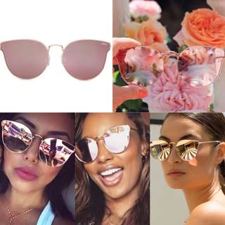 Quay Australia x Jasmine - All My Love Sunglasses - Rose Pink/Gold - Free Shipping