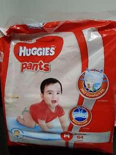 Huggies Pants - Silver, M size