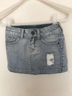 Zara kids 2-3歲牛仔短裙