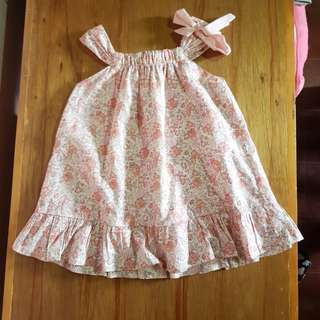 Crib Couture Dress 18m halter baby pink cute 2y 2t