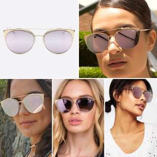 Quay Australia - Tell Me Why Sunglasses - Pink/Gold - Free Shipping